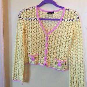 Betsy Johnson Crochet Sweater SO CUTE